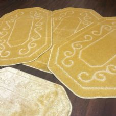 ROMANY GYPSY WASHABLES SET OF 4  SIZE 67X110CM MATS-RUGS LEMON SHAPED NO SLIP